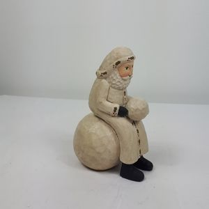 Other - Old St Nich sitting on a snowball.
